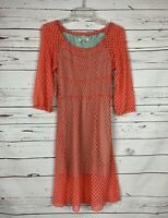UMGEE Boutique Coral Lace 3/4 Sleeves Holiday Party Dress ~ Women's Size S Small