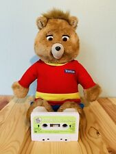 Vintage TEDDY RUXPIN Interactive Talking Bear With The Airship Cassette Tape