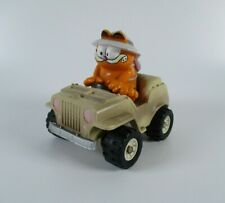 Vintage Garfield Safari Jeep/Car 1981 Figure Tiger Of The Road Feature Syndicate