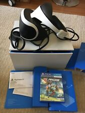 Sony PlayStation 4 VR Headset + One Disc Rigs NO Camera With Box CUH-ZVR1