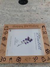 Happy 30th Birthday Wooden Photo Frame Gift