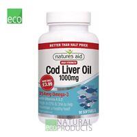 Natures Aid Cod Liver Oil 1000mg 90 Softgels