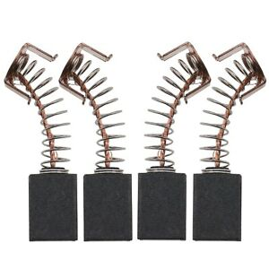 4x 12X8X5mm Carbon Brushes Replacement for B&D G720 Angle Grinder with Spring