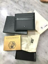 MONTBLANC Nightflight Italian Calfskin 3cc Slim Pocket Card Holder w Coin Pocket