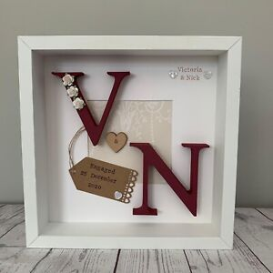 Personalised Anniversary Gift Framed Keepsake Wedding Engagement