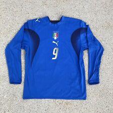 Puma Italia Soccer 2006 Football Jersey Long Sleeve Shirt # 9 TONI Large