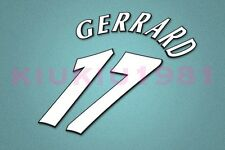 Liverpool Gerrard #17 UEFA Champions League 97-06 White Name/Number Set
