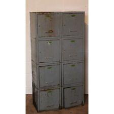 A Bank of 8 C1950s Industrial Retro Vintage Lockers Bathroom Kitchen Cabinets