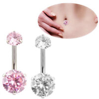 Hot Body Piercing Jewelry Crystal Rhinestone Dangle Button Belly Navel Ring Bar