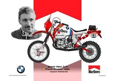 Greetings card Marlboro BMW R80 G/S 1985 #101 Gaston Rahier (BEL) Version 2
