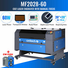 Omtech 28x20inch 60w Co2 Laser Engraver Cutter Ruida With Cw 5200 Water Chiller