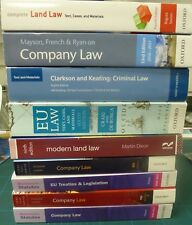 LAW BOOKS FOR  COMPANY-LAND-EU-CRIMINAL IDEAL FOR UNIVERSITY STUDENT  9 BOOKS