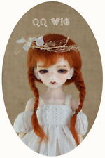 QQ-05A  BJD Doll Mohair Wig  Carrot Red 1/2 ;1/3; 1/4; 1/6 ;1/8; 1/10 size ;
