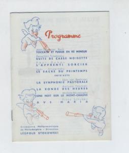 (MC1/B) Programme Walt Disney Orchestre philarmonique Léopold Stokowski
