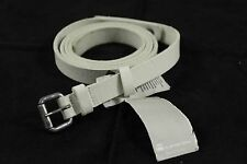 BNWT G-Star Raw Genuine White Leather Skinny Belt Solid Metal Buckle Size L 95
