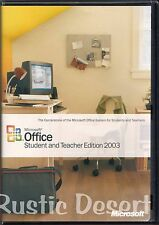 Microsoft Office Student and Teacher Edition 2003 with Key (X10-10212) used