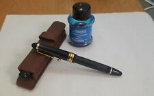 Pilot Custom 823 Fountain Pen M Gold Nib Made in Japan Black+ Leather case+ Ink