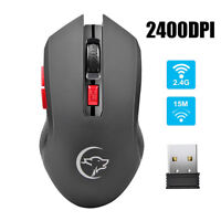 G817 2.4GHz 2400DPI Wireless Optical Mouse Mice + USB Receiver for PC Laptop Mac