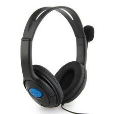 3.5mm Stereo Gaming Headset Wired Headphones + Mic for Sony Playstation 4 PS4