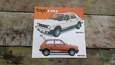 YUGO SALES BROCHURE 1982
