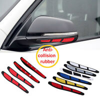 4 Pcs Rubber Car Door Edge Guard Strip Protector Side Mirror Anti-collision Red