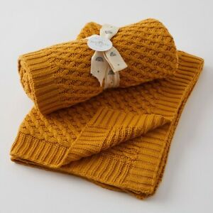 Jiggle & Giggle 100% Cotton Honey Basket Weave Knit Baby Blanket