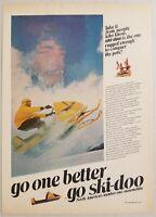 1969 Print Ad Ski-Doo Snowmobiles Conquer the North Pole