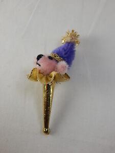 """World of Miniature Bears 1.5"""" Mohair Bear Jester Stick #5993 CLOSING"""