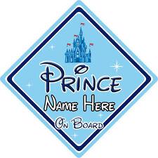 Personalised Disney Prince On Board Car Sign - Baby On Board - Disney Castle
