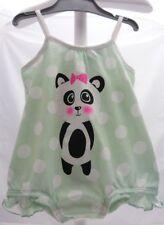 Kiabi  body à brides vert à pois blanc avec motif imprimé panda bébé fille3 mois