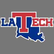 NCAA Rico Industries  Die Cut Vinyl Decal Louisiana Tech Bulldogs