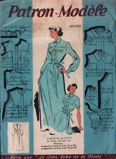 Vintage FRENCH Pattern - PATRON MODELE PARIS - Nightgown - Bust 38