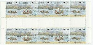 1987 'FIRST FLEET BICENTENNIAL - TENERIFFE' - MNH GUTTER STRIP 10 x 36c STAMPS