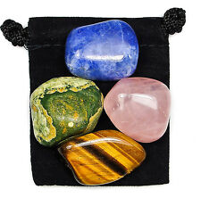 SELF RESPECT Tumbled Crystal Healing Set = 4 Stones + Pouch + Description Card