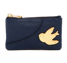 NWT Marc by Marc Jacobs Petal to the Metal Leather Key Pouch NAVY BLUE AUTHENTIC