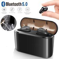 Mini Bluetooth 5.0 Headset TWS Wireless InEar Running Earphones Noise Cancelling