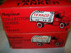 """ERTL #9238UO """"TEXACO #02"""" 1926 MACK TANKER BANK SCALE 1:25 MIB"""