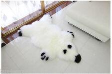 Real Single One Pelt Sheepskin IVORY 2'x3' Rug Bedroom White Bear Print fur rug