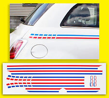 FIAT 500 FRENCH Flag side Stripe style Decals Stickers (not Italian)