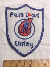 Palm Coast Utility Water Department Logo Uniform patch
