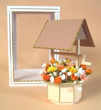 A4 Card Making Templates - 3D Wishing Well.
