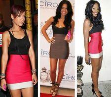 Herve Leger Bandage Mini Colorblock Charlotte skirt Red size Small aso Rihanna