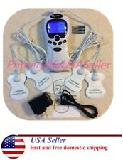 TENS Unit Pain Relief Digital Therapy Acupuncture Muscle Therapy Pads Massager A