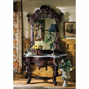 GR2232 - Hapsburg Mirror and Marble Topped Console Table - New!