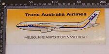 VINTAGE TAA TRANS AUSTRALIAN AIRLINES MELBOURNE AIRPORT SOUVENIR PROMO STICKER