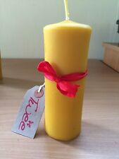 Large molded Church candle 100% pure beeswax handmade 14.5 x 6cm- Pillar - Twee