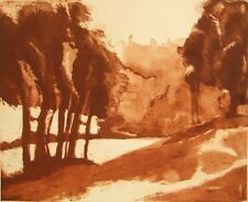 Limited edition etching 'Hampstead Heath' pencil signed; Ruth Hodge