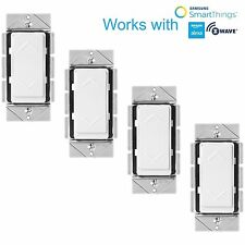 Z-Wave Wall Dimmer Light Switch Home Automation Works with Amazon Alexa - 4 Pack