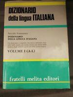 DIZIONARIO della lingua ITALIANA, Niccolò Tommaseo, due tomi Melita Editori 1990