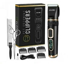 Holdog Dog Clippers Professional Heavy Duty Dog Grooming Clipper 3-Speed
